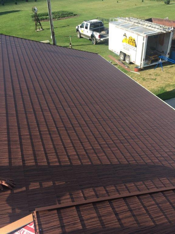 A home that used seamless roofing installation services in Luverne, MN